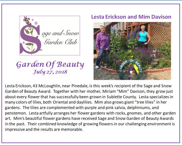 lesta erickson and Mim Davison